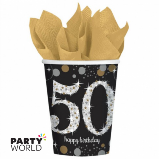 Sparkling Celebration 50th Happy Birthday Cups (8)