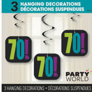 70th Swirl Hanging Decorations (3)