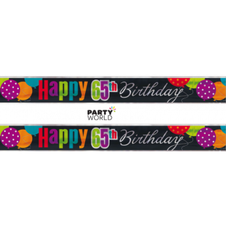 Cheer 65th Birthday Foil Banner (3.65m)