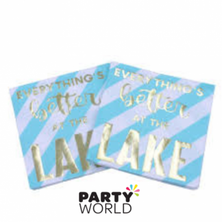 Everything's Better At The Lake Beverage Napkins (20)