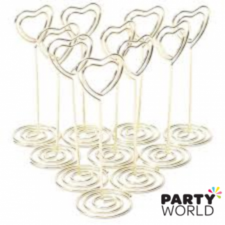 Heart Spiral Table Card Holder SILVER (10)