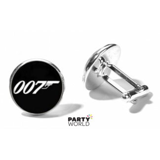 007 James Bond Silver Cuff Links in Mini Gift Box (2)