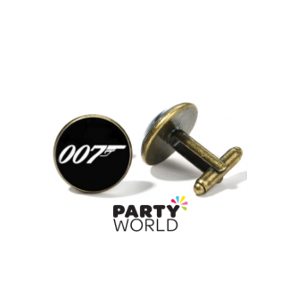 007 James Bond Gold Cuff Links in Mini Gift Box (2)