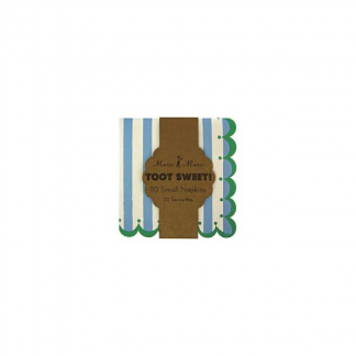 Meri Meri Toot Sweet Blue/Green Beverage Napkins (20)