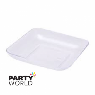 Clear Plastic Appetizer Trays (24)