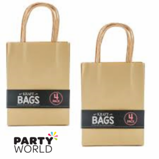 Small Brown Kraft Paper Gift Bag with Handle (4)