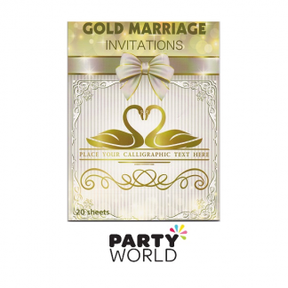 Golden Wedding Anniversary Invitations (20) to clear