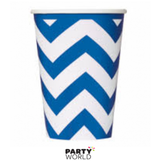 Chevron Paper Cups - Royal Blue (6pk)