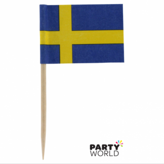 Swedish Flag Picks (20)