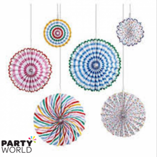 Meri Meri Toot Sweet Pinwheel Decorations (6)