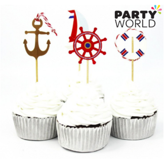 Nautical Cupcake Toppers (24)