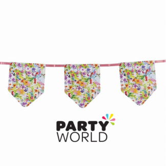 Bright Floral Design Paper Bunting (5m)