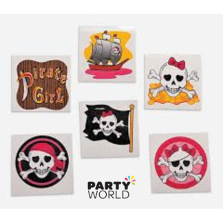 Pink Pirate Temporary Tattoos (12)