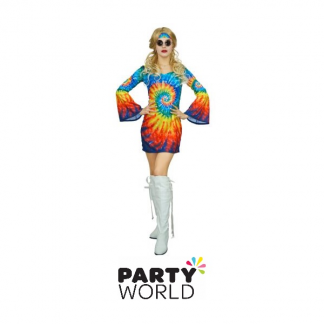 Rainbow Hippie Dress