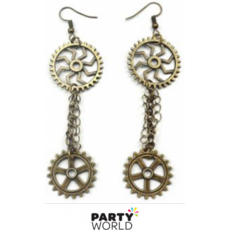 Steampunk Earrings - Cogs & Gears