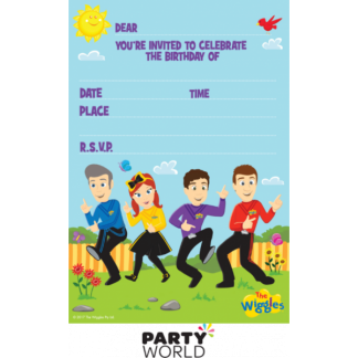 The Wiggles Party Invitations (8)