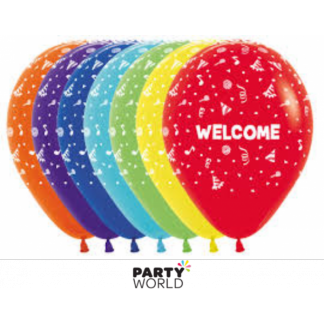 Welcome Latex Balloons 12inch (12)