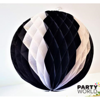 Giant Black & White Honeycomb Ball 50cm