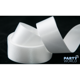 Wedding Car Satin Ribbon White 38 mm x 6 m