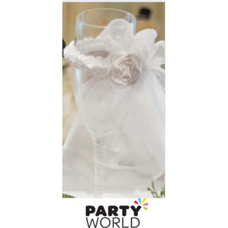 Bridal Veil Flute Glass Decoration