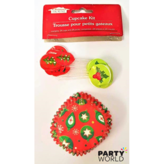 Christmas Cupcake Cases & Toppers (24)