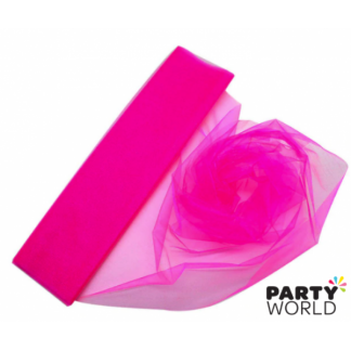 Hot Pink Organza Draping Fabric 10m x 48cm