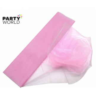 Baby Pink Organza Draping Fabric 10m x 48cm