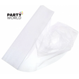 White Organza Draping Fabric 10m x 48cm