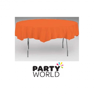 Bittersweet Orange Round Tablecover