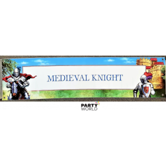 Medieval Knight Giant Banner 38 x 152 cm
