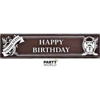 Vintage Class Giant Birthday Banner 38 x 152 cm