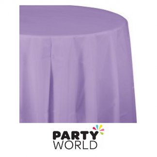 Luscious Lavender Round Plastic Tablecover