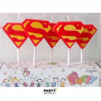 Superman Logo Candles (5)
