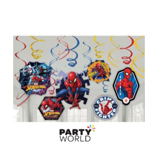 Spiderman Swirl Decorations (12)