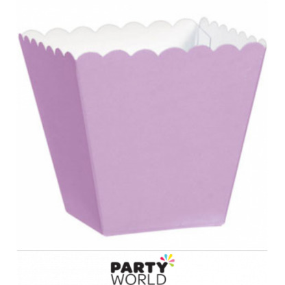 Lilac Scalloped Edge Favor Boxes (100)