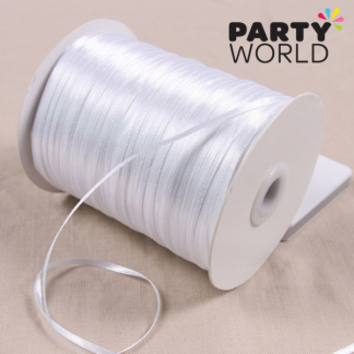 White Soft Satin Ribbon 3mm x 2m