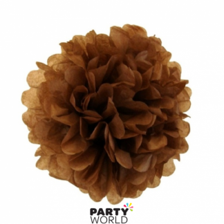 24.5cm Dark Brown Tissue Puff Ball