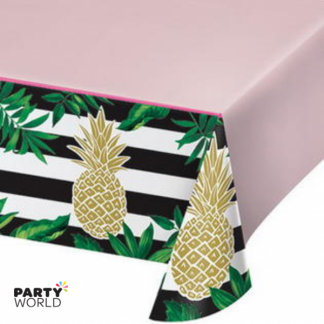 Tropical Pineapple Plastic Tablecover