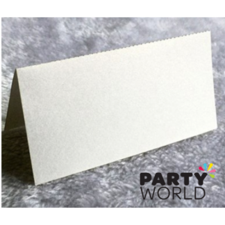 White Pearlised Place Cards (50)