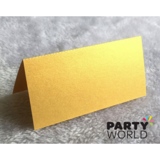Gold Pearlised Place Cards (50)