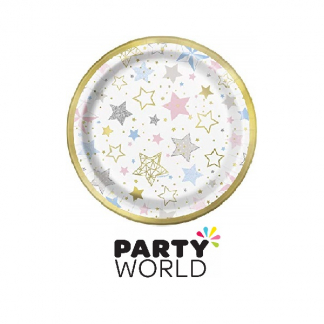 "Twinkle Little Star Round 7"" Paper Plates (8)"