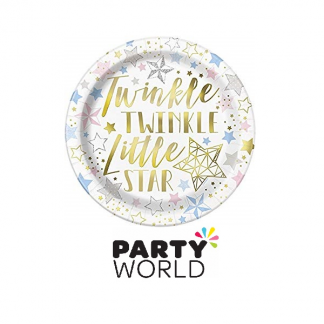"Twinkle Little Star Round 9"" Paper Plates (8)"
