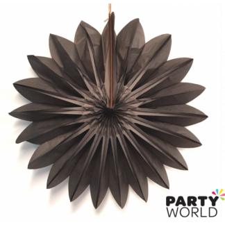 Black Decorative Fan 24inch / 60 cm - Seconds