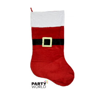 Santa's Belt Christmas Stocking 40cm