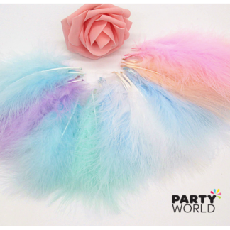 Pastel Turkey Feathers approx15-20 cm (50)