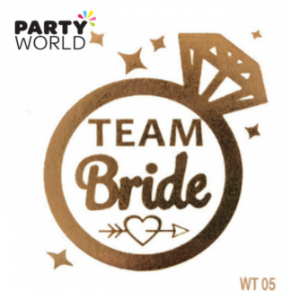 Team Bride Gold Temporary Tattoo