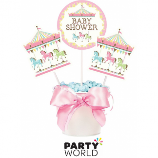Baby Shower Carousel Centerpiece Sticks (3)