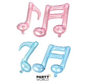 music notes pink and blue