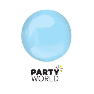 Pastel Blue Foil Orbz Balloon 16in