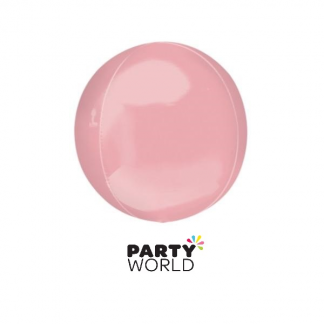 Pastel Pink Foil Orbz Balloon 16in